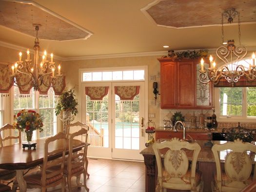 French country kitchen design country french pinterest - Country kitchen curtain ideas ...