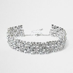 Crystal Chain Thick Choker from River Island R280,00