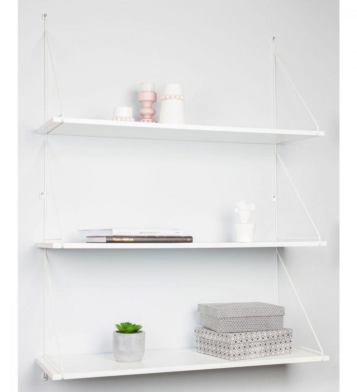 Kotoilu Stroke seinähylly 90x29x120 cm, värivaihtoehtoina musta ja valkoinen