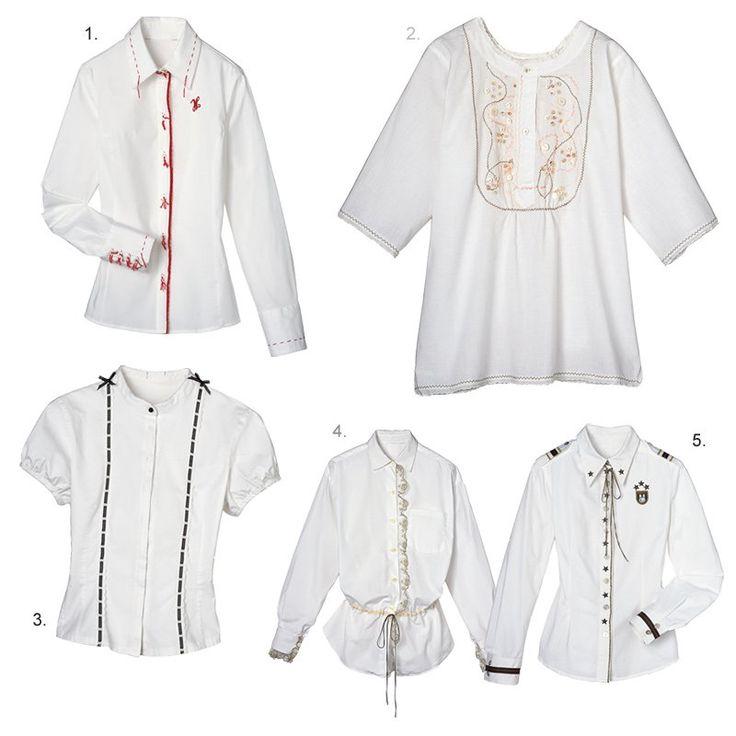 Des chemises blanches personnalisées
