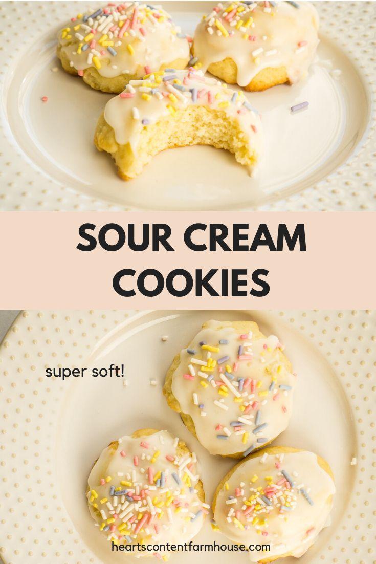 Super Soft Sour Cream Cookies In 2020 Sour Cream Cookies Cookie Recipes Easy Cookie Recipes