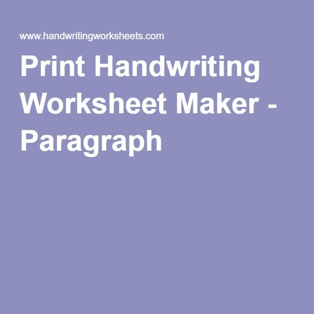 Number Names Worksheets handwriting worksheets com print Free – Handwriting Worksheets Com Print