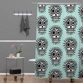 Found it at Wayfair - Andi Bird Sugar Skull Fun Shower Curtain