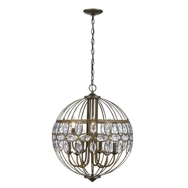 Bel Air Lighting Adeline 9-Light Antique Brass Chandelier