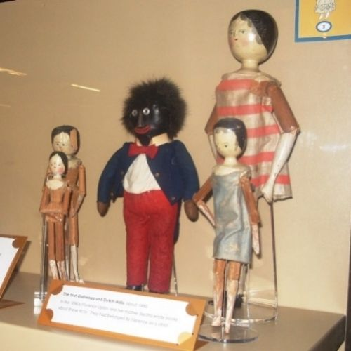 If anyone would like to see them, Florence Upton's Golliwogg and Dutch dolls are on display at the Museum of Childhood in Bethnal Green.