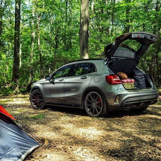The Gla45 Amg S Wide Stance And Large Tailgate Makes It Easy For Us To Clean Up The Campsite This Truly Is The Perfect Package Mbphotopass Andrewlink Mer