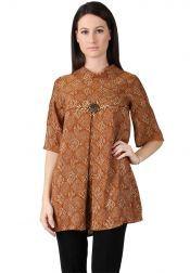 BATIK SEMAR  BATIK SEMAR Blouse Batik Printing Coklat