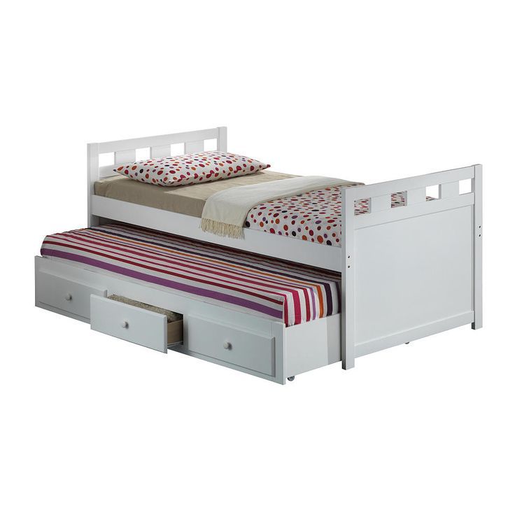 broyhill kids twin bed with drawer white