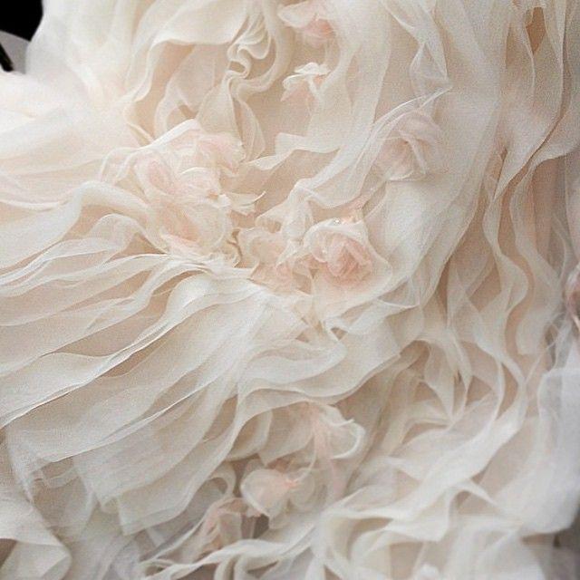 Handmade Silk Organza flowers complete our 'Blossom' finale gown. #inesdisanto #inesdisantorunway