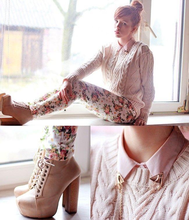 Bij warmere dagen hoort minder warme kleding! Ik heb er zo'n zin in om weer zonder jas naar buiten te gaan! De blousjes die eens niet te koud zijn, de broeken met gaten die nu eens niet zo door tochten en de jurkjes die weer helemaal toepasselijk bij het weer zijn. Keidy (hierboven) heeft het in ieder geval al goed onder de knie. Ik heb een aantal inspirerende lente-outfits op een rij gezet! Ik vind de outfit van Jennifer echt geweldig mooi! Het bloemenmotiefje in haar broek is subtiel, de…