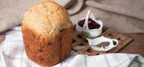 Как приготовить десертный хлеб из муки с отрубями с изюмом и маком | Хлеб в хлебопечке
