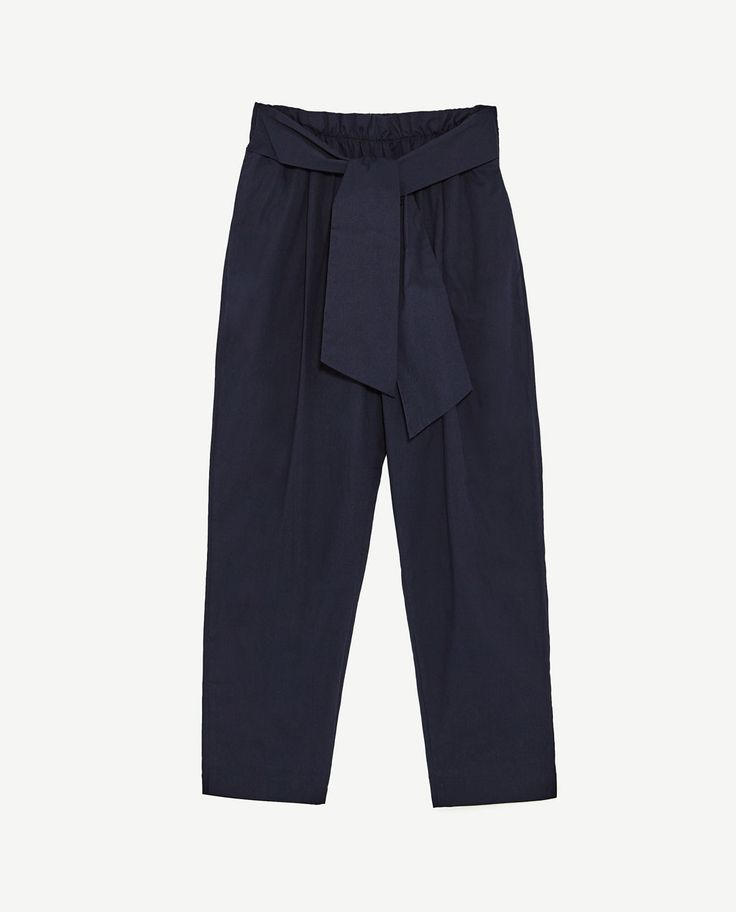 Image 8 of TROUSERS WITH BELT from Zara
