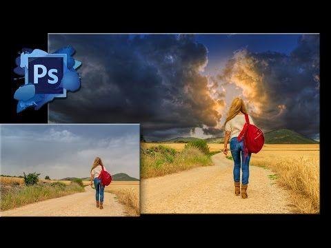 Как сделать небо в Фотошопе красивым - YouTube