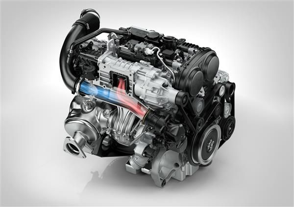 Volvo adds super- and turbo-charged 2 liter engine for the enthusiast. Volvo Drive-E super- and turbocharged engine - 300 HP.