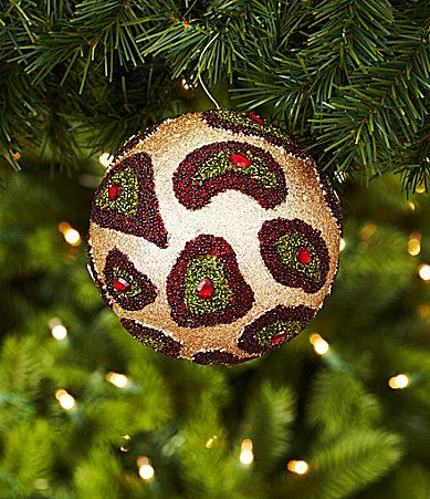 Leopard Decorative Balls Beauteous 57 Best Leopard Christmas Ball Images On Pinterest  Christmas Decorating Design