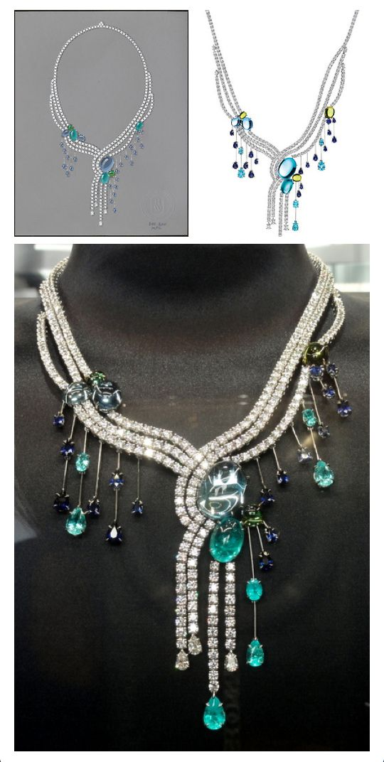 Harry Winston collier cascade diamants collection Water Biennale des Antiquaires 2012 Trendy Feather Blog