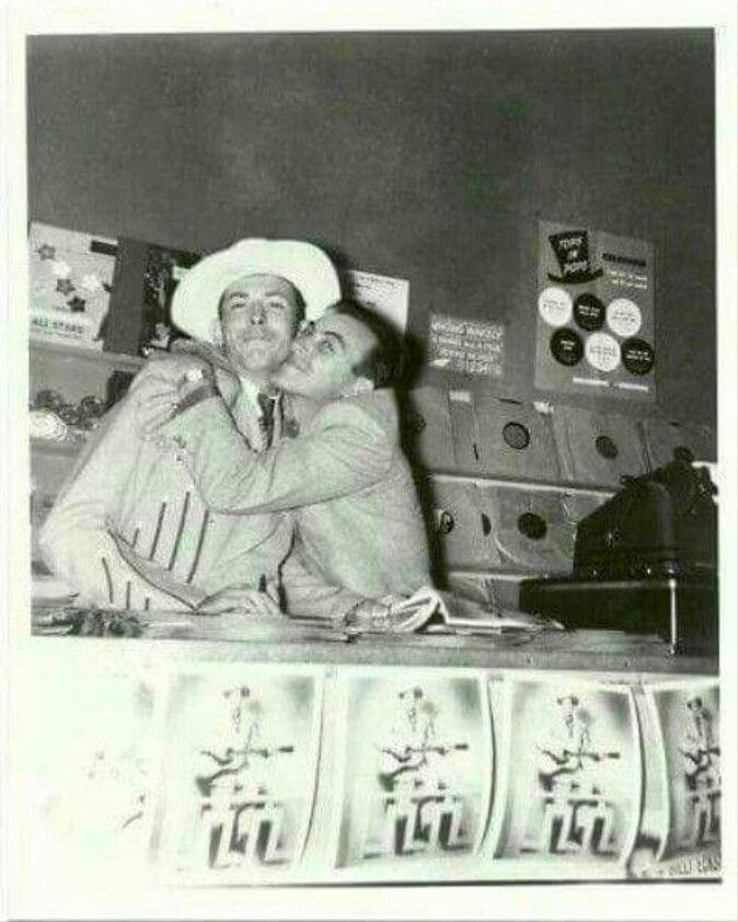 Hank Williams digs the records...