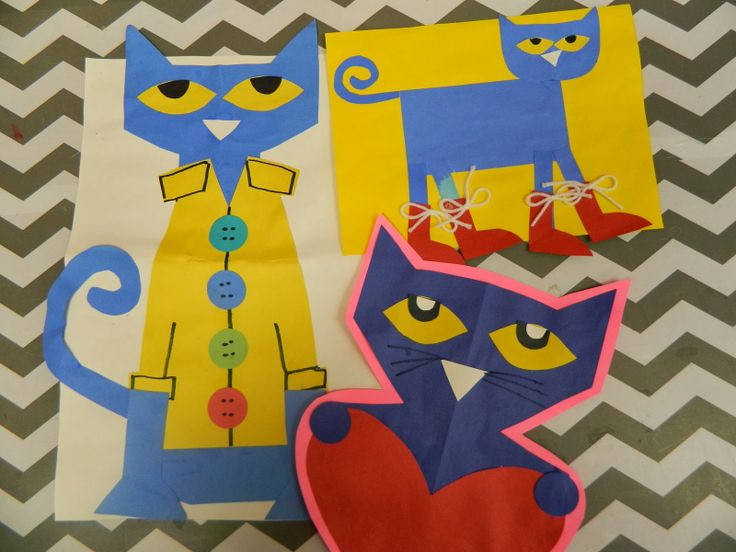 Image Result For Pete Cat Coloring Page Handprint