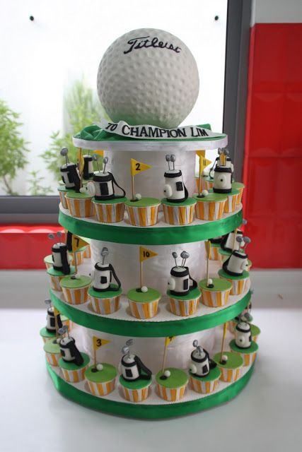 Celebrate with Cake!: Golf Cupcakes  mini cupcakes in a variety of flavors