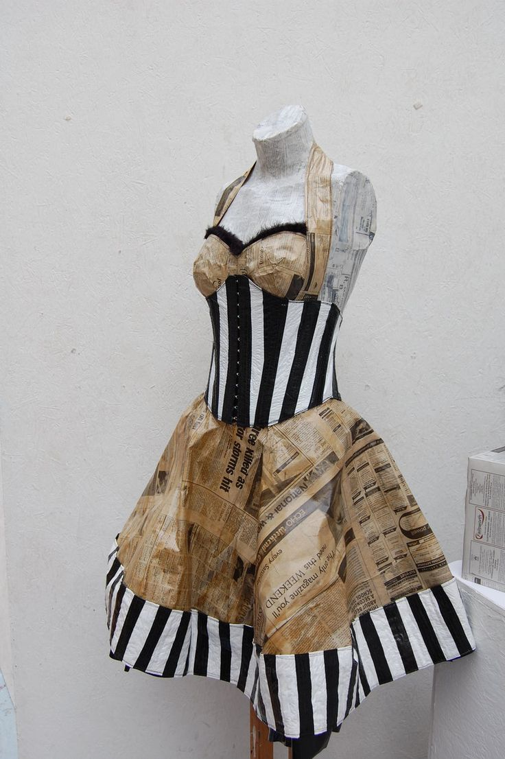 Out of Recycled Materials Fashion | dresses made from recycled materials