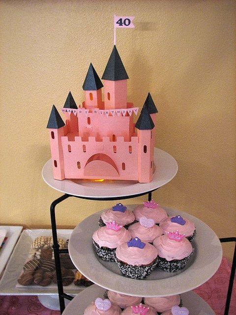 Cricut 40 Geburtstag Dekor 3d Schloss Einmal Auf Eine Prinzessin