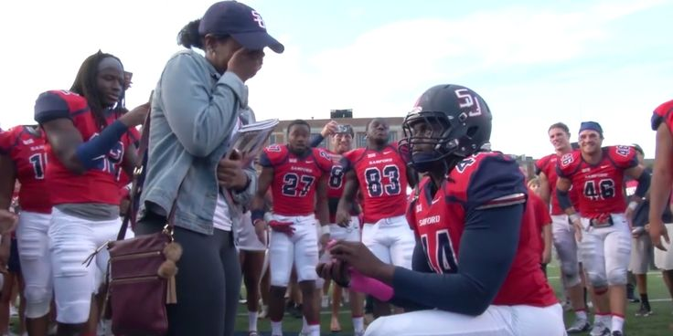 Watch: This Football Player Recruited His Squad for an Adorable Proposal
