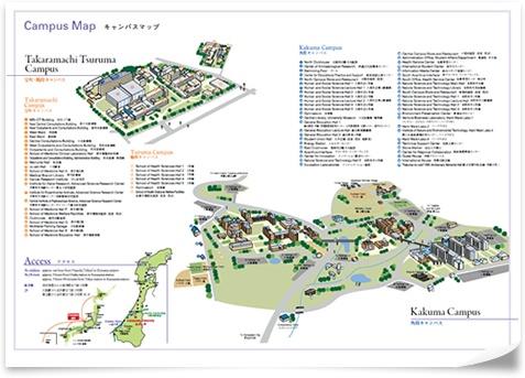 Campus maps helps students navigate Kanazawa University