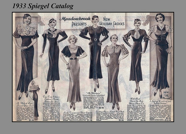 1933 Sears Christmas, Women's Holiday Fashions by mcudeque, via Flickr