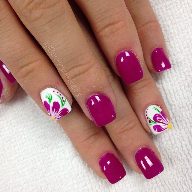 "206 Likes, 6 Comments - GET POLISHED WITH US! (@professionalnailss) on Instagram: ""Purple flowers looks and feels so calm. Oh that feeling """
