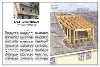 Shed Dormer Roof Truss Attic Ideas Pinterest