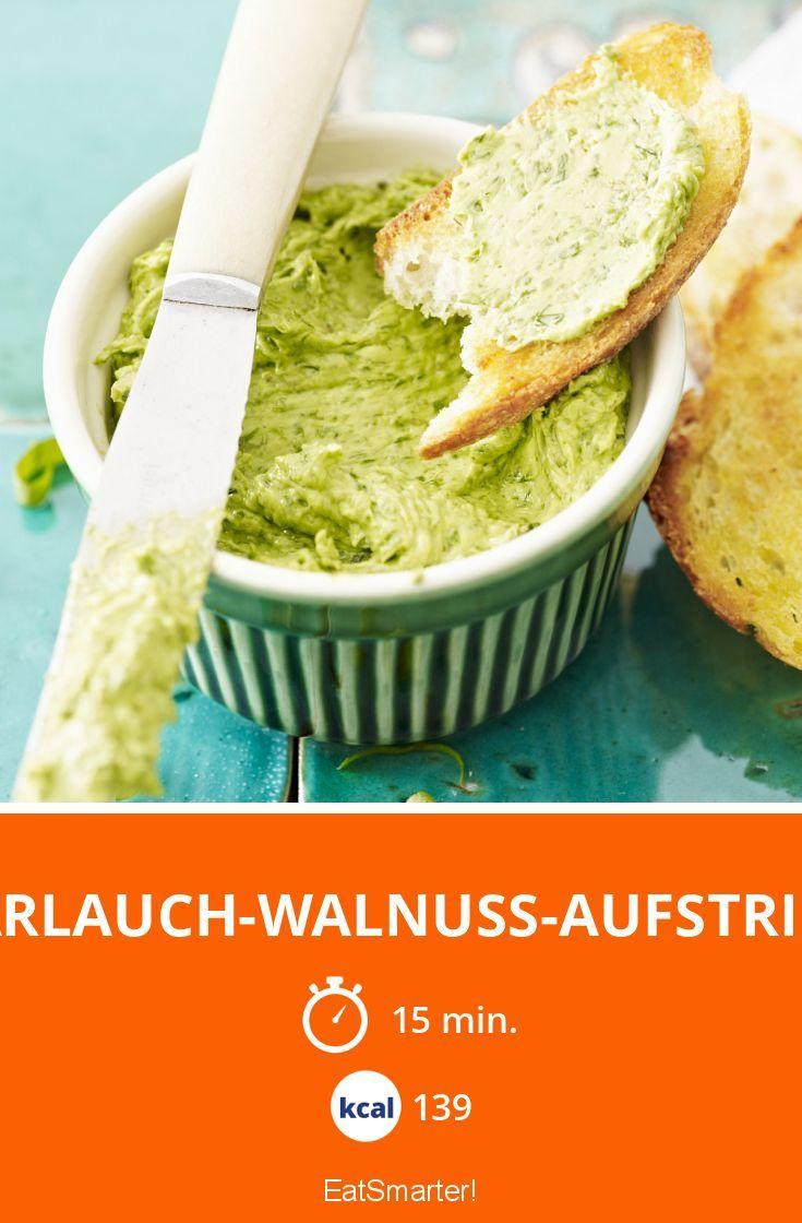 Bärlauch-Walnuss-Aufstrich - smarter - Kalorien: 139 kcal - Zeit: 15 Min. | eatsmarter.de