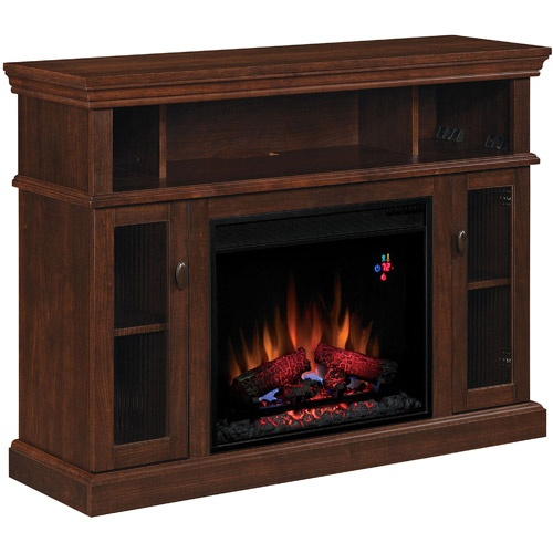 chimneyfree media electric fireplace midnight cherry