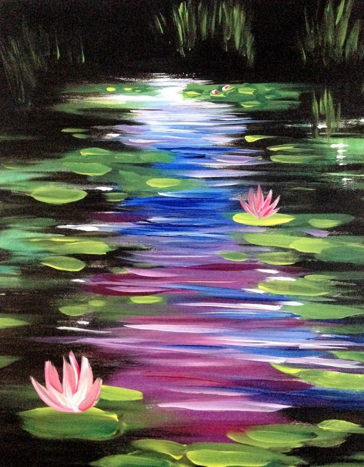 My daughter and I did this one at a Paint Nite. Great fun!