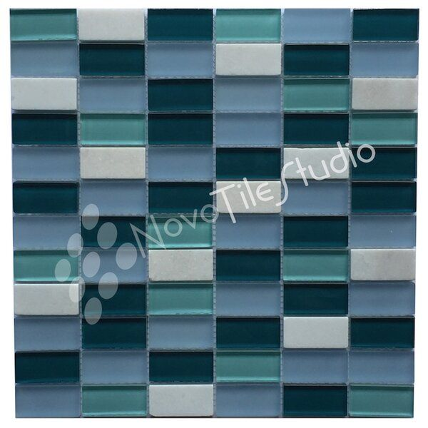 Catania 1 X 2 Glass Mosaic Wall Floor Tile In 2020 Stone Mosaic Tile Mosaic Wall Mosaic Glass