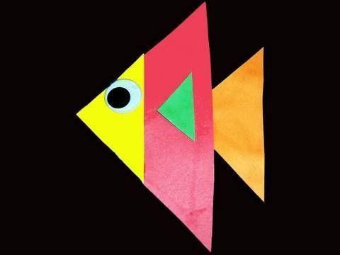 Using triangles to make a super cute fish for preschoolers
