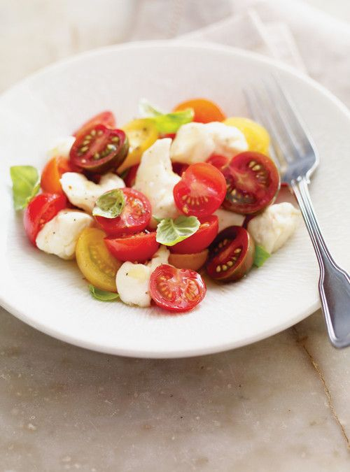 Salade de tomates cerises et de fromage en grains    Ricardo