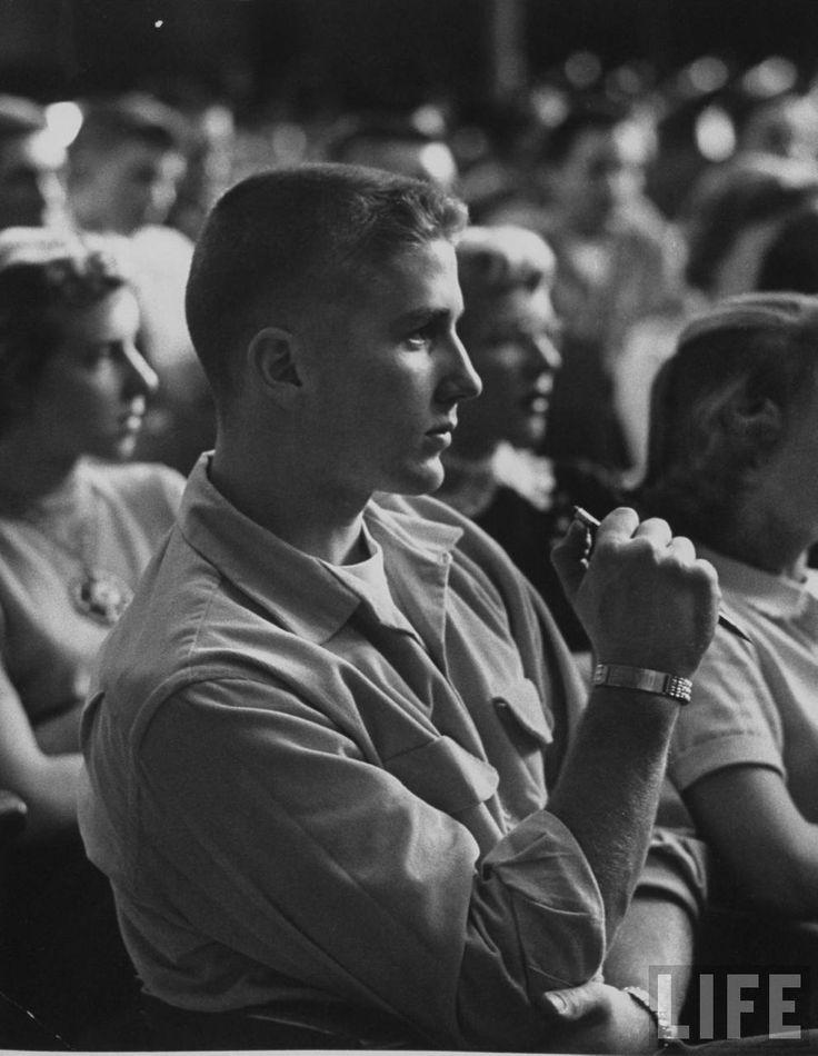 #Life Magazine - Student in class at Davenport high school - Yale Joel - November 1953