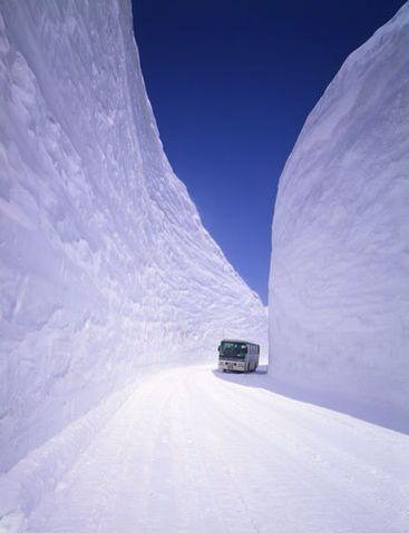 北海道 雪の壁
