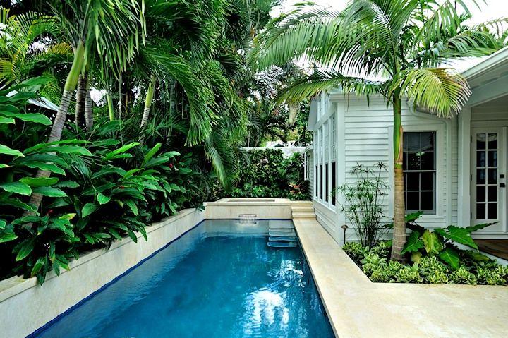modern architecture - craig reynolds landscape architect - miller residence - exterior view - tropical garden #CustomPool RealPalmTrees.com