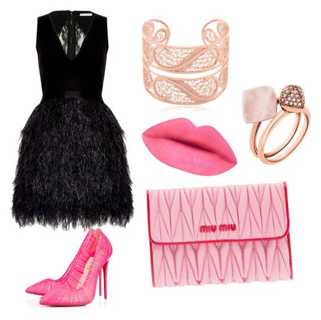 ♡ by mariuccia1 on Polyvore featuring polyvore fashion style Alice + Olivia Christian Louboutin Miu Miu Michael Kors Arabel Lebrusan clothing