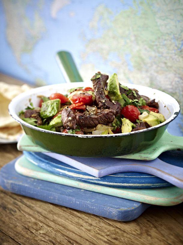 Unser beliebtes Rezept für Steak-Pfanne mit Avocado und mehr als 55.000 weitere kostenlose Rezepte auf LECKER.de.