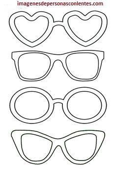 a1bdc5b081 4 Plantillas de dibujos de lentes para imprimir y recortar | Moldes |  Manualidades para niños, Manualidades, Arte infantil