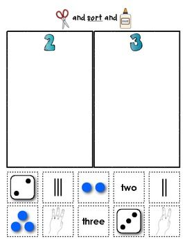 Number Sorts ~ Early Math Sorting Series I like children having to think about different representations