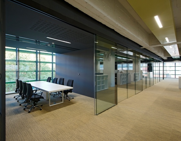 11 best images about glass office fronts with sliding for Sliding glass doors office