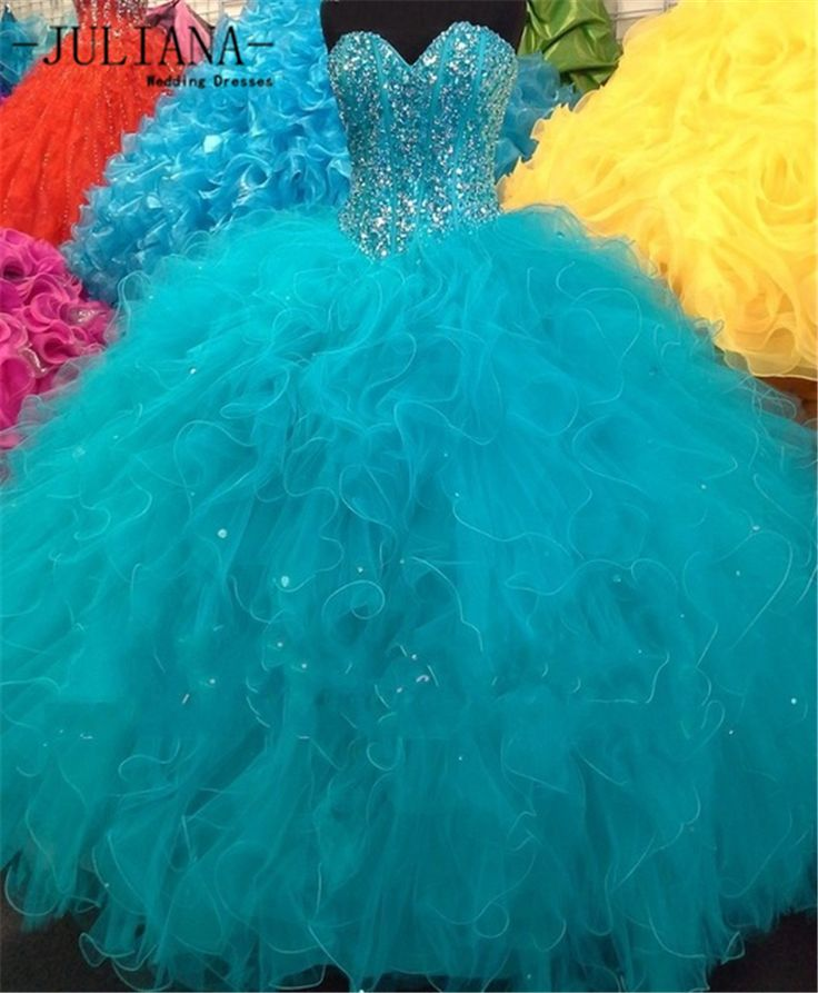 Find More Quinceanera Dresses Information about Juliana Sexy Cheap Shiny Blue Ball Gown Quinceanera Dresses 2016 with Organza Beaded Sweet 16 Dresses Vestido De 15 Anos QA960,High Quality ball gowns quinceanera dresses,China quinceanera dresses 2016 Suppliers, Cheap quinceanera dresses from Juliana Wedding Dresses Store on Aliexpress.com