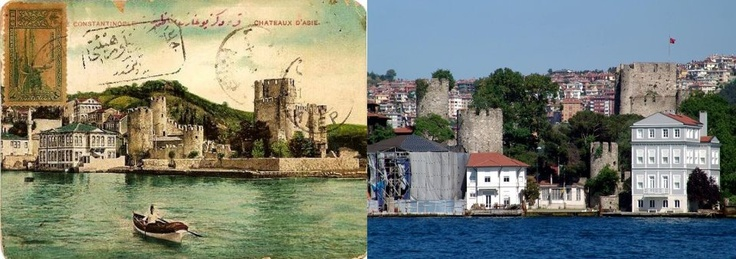 Anadoluhisarı (Anatolian Castle) is a fortress located in Istanbul, Turkey on the Anatolian (Asian) side of the Bosporus, which also gives its name to the quarter around it. It was built between 1393 and 1394 by the Ottoman sultan Bayezid I