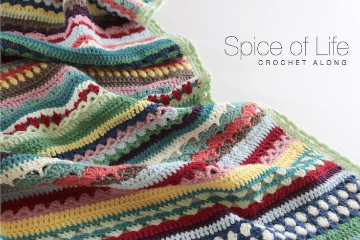 The Spice of Life blanket was a pattern that was originally released in six parts as of a Black Sheep Wools  crochet along in Autumn 20...