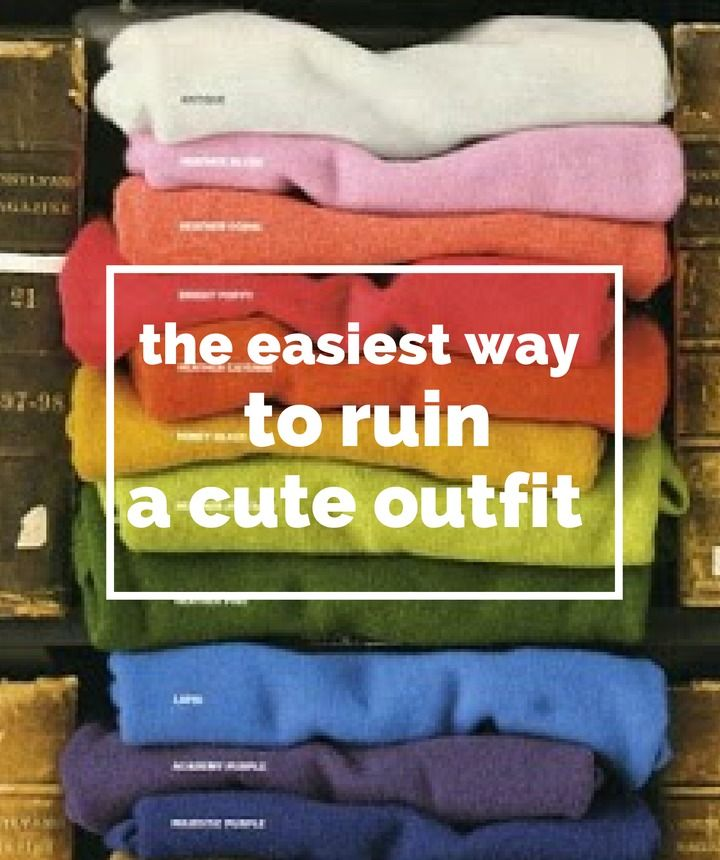 Yes, it might be second nature--but it's still the easiest way to ruin a good outfit!
