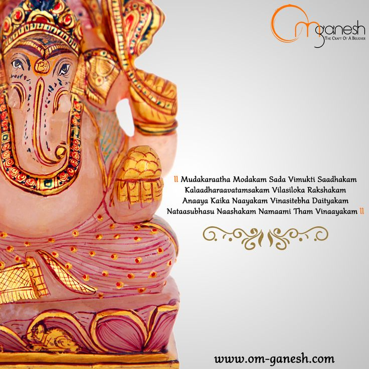 He is the bestower of salvation. He is the sole leader of those who lose themselves in this world. He is Lord Ganesha. www.om-ganesh.com