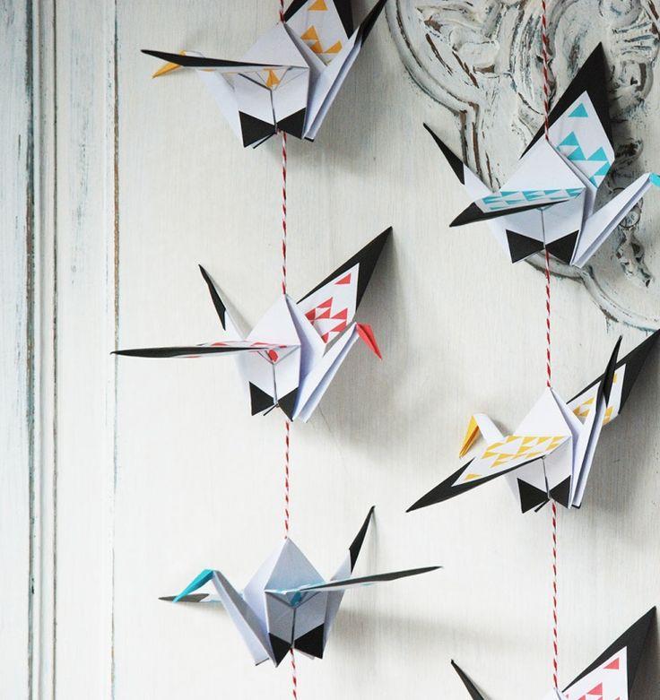 Origami vouwblok Good Luck Stork Mint
